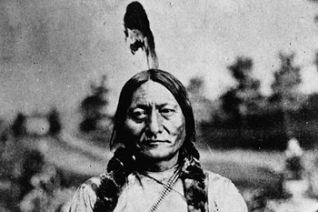 photo portrait en noir et blanc de Sitting Bull