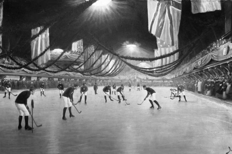 Photo archive noir et blanc Victoria Rink
