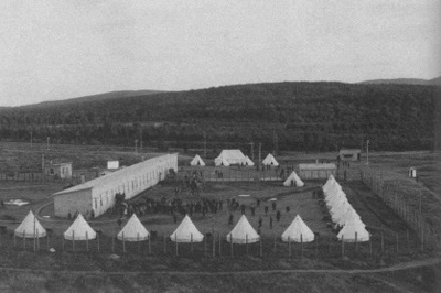 Photo noir et blanc camp Valcartier