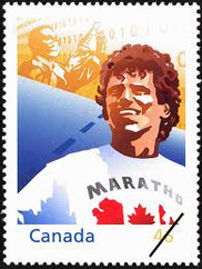 photo timbre poste Terry Fox
