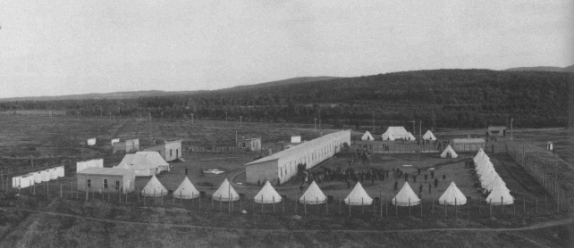 photo archive noir et blanc camp Valcartier