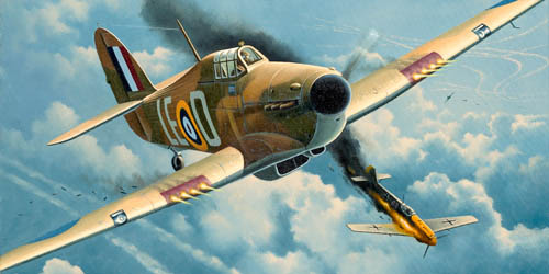 illustration couleur avion de guerre